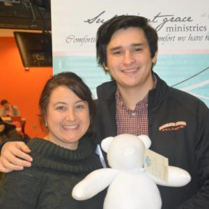 Kelly Gerken and Ian Melchor at the 2016 Build A Bear For Moms event at BGSU benefitting Sufficient Grace Ministries