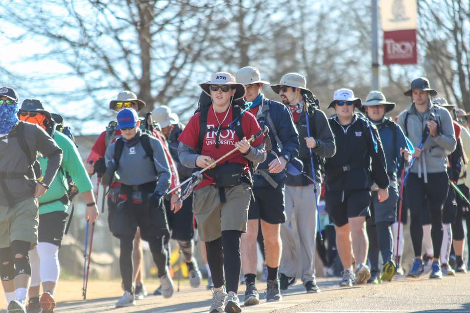 Alpha Tau Omega at Troy walks 128.3 miles for wounded veterans