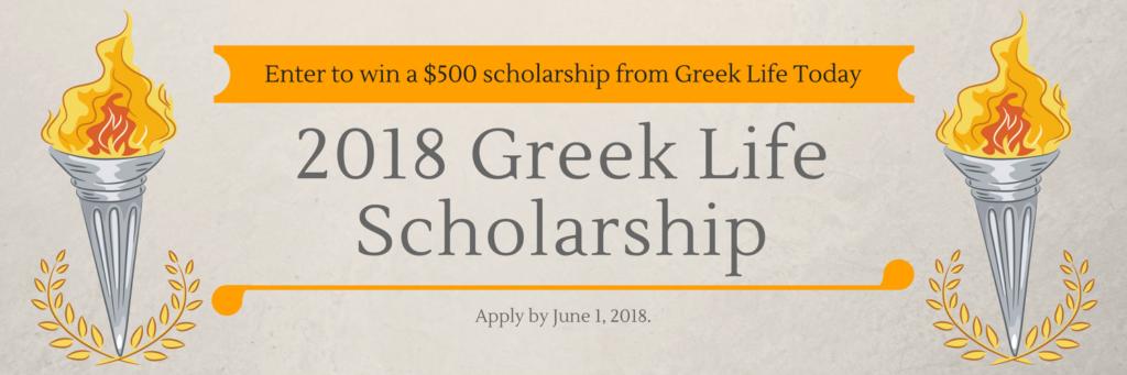 2018 Greek Life Scholarship - GLT