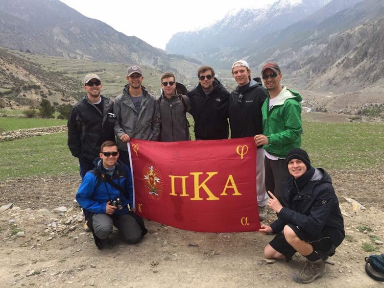 Pi Kappa Alpha brothers in Nepal for their 2017 international mission trip
