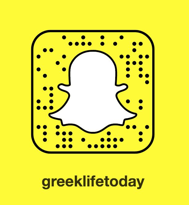 Add Greek Life Today on Snapchat
